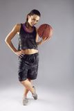Young woman basketball player Stock Images