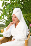 Young woman after bath Stock Photography