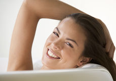 A young woman in the bath, close-up Royalty Free Stock Photography