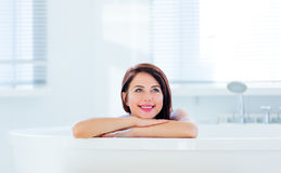 Young woman in bath Stock Photography