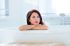 Young woman in bath Royalty Free Stock Photography