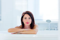 Young woman in bath Stock Photos
