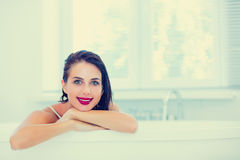Young woman in bath Royalty Free Stock Photo