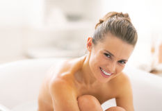 Young woman in bathtub Royalty Free Stock Image