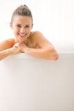 Young woman in bathtub Royalty Free Stock Photos