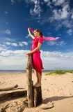 The young woman  on a beach. Stock Photo