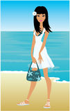 Young woman on a beach Stock Image