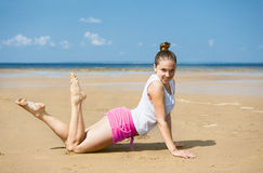 Young woman on the beach Royalty Free Stock Photography