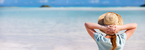 Young woman at beach Royalty Free Stock Images
