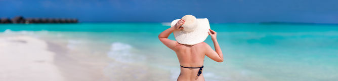 Young woman at beach Stock Image