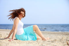 Young woman on beach summer holiday Royalty Free Stock Photo