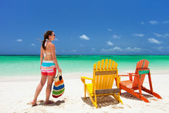 Young woman on beach vacation Royalty Free Stock Photography