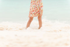 Young woman on the beach. Royalty Free Stock Photos