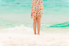 Young woman on the beach. Stock Photo