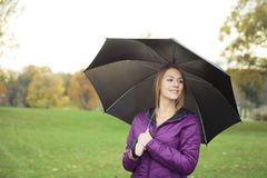 Young woman in beautiful autumn park, concept. A Young woman in beautiful autumn park, concept autumn stock images