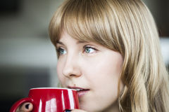 Young Woman with Beautiful Blue Eyes Stock Photos