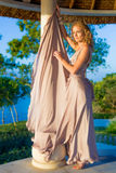 Young woman in beautiful dress Royalty Free Stock Photo