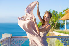 Young woman in beautiful dress Royalty Free Stock Photos