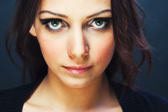 Young woman with beautiful eyes Royalty Free Stock Photo
