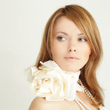 Young woman - beautiful face Royalty Free Stock Images