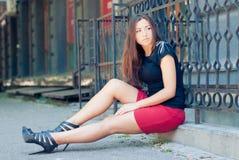 Young woman beautiful fashion model stock photography