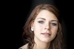 Young Woman with Beautiful Green Eyes Royalty Free Stock Image