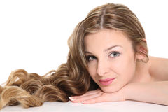 Young woman with beautiful hair Stock Images