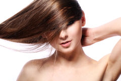 Young woman with beautiful hair Royalty Free Stock Images