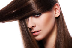 Young woman with beautiful hair Royalty Free Stock Photo