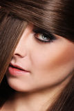 Young woman with beautiful hair Royalty Free Stock Image