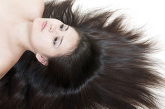 Young woman with beautiful hair Stock Photography