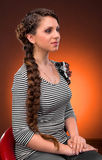 Young woman with beautiful hairstyle Royalty Free Stock Photo