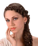 Young woman with beautiful hairstyle Stock Photo