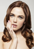 Young woman with beautiful healthy face royalty free stock image