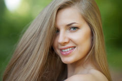 Young woman with beautiful healthy face - outdoor Royalty Free Stock Photography