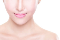 Young woman with beautiful lips Royalty Free Stock Photos