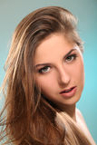 Young woman with beautiful long hair Stock Images