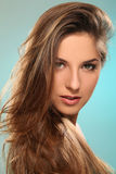 Young woman with beautiful long hair Royalty Free Stock Photo