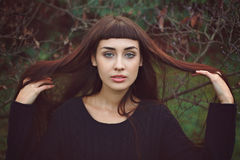 Young woman with beautiful long hair Royalty Free Stock Image