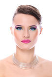 Young woman with beautiful make-up Stock Photography