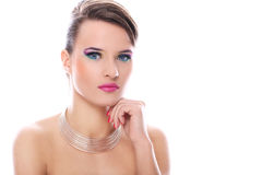 Young woman with beautiful make-up royalty free stock photo