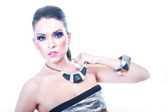 Young woman with beautiful make up Royalty Free Stock Images