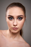 Young woman with beautiful make-up. royalty free stock photo