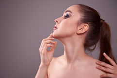 Young woman with beautiful make-up. Stock Images