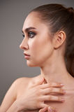 Young woman with beautiful make-up. Stock Photography