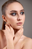 Young woman with beautiful make-up. Stock Photos