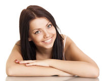Young woman with beautiful smile stock photo