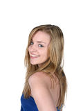 Young woman with beautiful smile and long hair Royalty Free Stock Photos