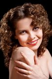 Young woman with beauty curly hairs Stock Image