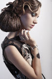 Young woman with beauty hairstyle and make-up Royalty Free Stock Photography